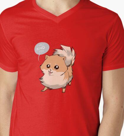Deadly Pom Mens V-Neck T-Shirt