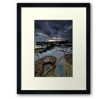 Bass Coast Rock Shelf Framed Print