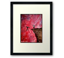 Jumping Off The Edge Framed Print