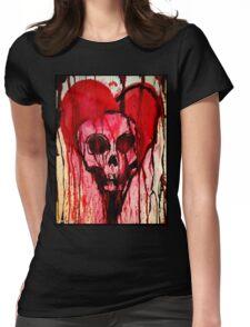 Bloody Heart/Doomed Romantic Womens Fitted T-Shirt