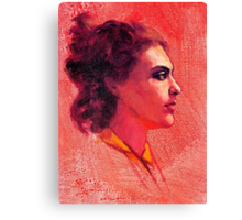 Portrait of Alysha Canvas Print