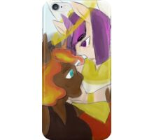 angel and devil, sun and stars iPhone Case/Skin