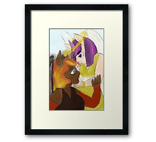angel and devil, sun and stars Framed Print