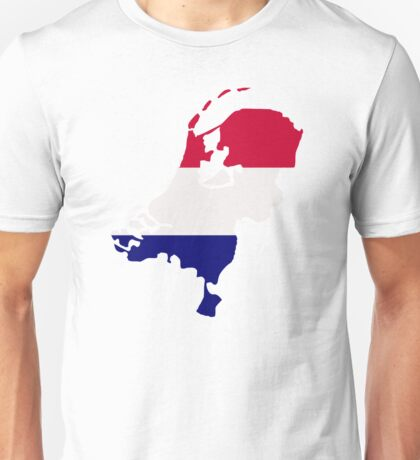 Netherlands map flag Unisex T-Shirt