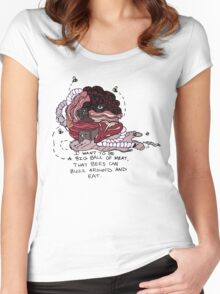 I Want to be a Big Ball of Meat  Women's Fitted Scoop T-Shirt