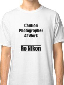 caution photographer at work 2 Classic T-Shirt