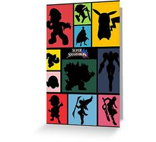 Super Smash Bros. For Wii U And 3DS: Roster Greeting Card