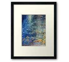 Turquoise Waterfall Framed Print