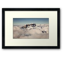 Above the Clouds, French Alps Framed Print