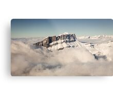 Above the Clouds, French Alps Metal Print
