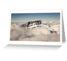Above the Clouds, French Alps Greeting Card