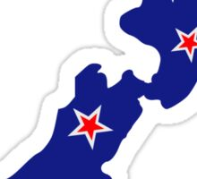 New Zealand map flag Sticker