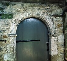 Front Door of Saxon St Gregories Minster Kirkdale North Yorkshire 198406020090 by Fred Mitchell