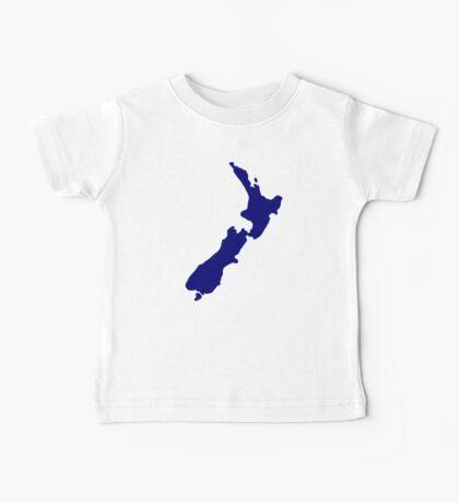 New Zealand map Baby Tee