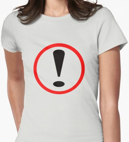Exclamation Mark Womens Fitted T-Shirt
