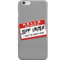 I'm Jeff Vader Pocket Location iPhone Case/Skin