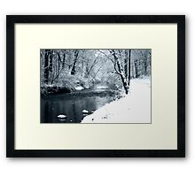 Winter Snow and Creek Framed Print