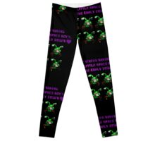 commander keen green two headed alien  Leggings