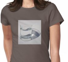 A Glass of Sparkling Water Womens Fitted T-Shirt