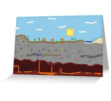 Minecraft World Greeting Card