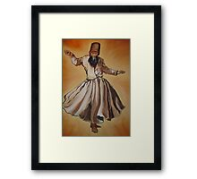 Semasen - Sufi Whirling Dervish Framed Print