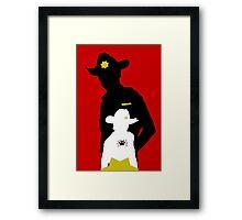 Sheriff & Son  Framed Print