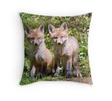 Fox cubs Throw Pillow