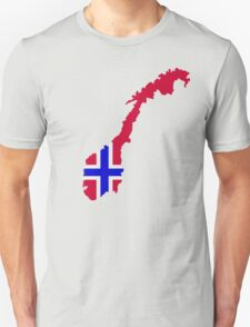 Norway map flag Unisex T-Shirt