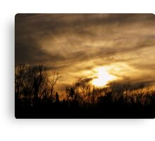 Ominous Clouds Mixed With Rays of Hope Canvas Print