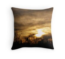Ominous Clouds Mixed With Rays of Hope Throw Pillow
