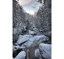 streambed in winter Photographic Print