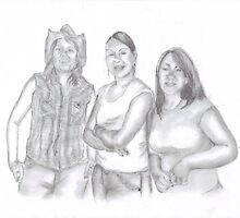 Three Texas Girls by Jeff Adams