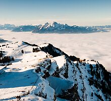 Pilatus above clouds by peterwey