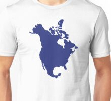 North America map Unisex T-Shirt