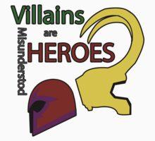 Villains are Heroes Kids Tee