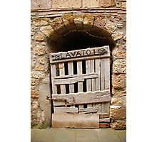 Old Wooden Door in Tuscany Photographic Print