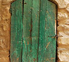 Old Green Wooden Door by jojobob