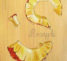 ACEO pineapple by cathy savels