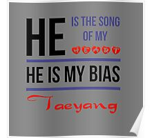 HE IS MY BIAS Taeyang - Grey Poster