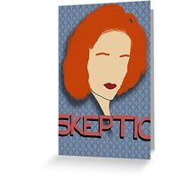 X Scully Greeting Card