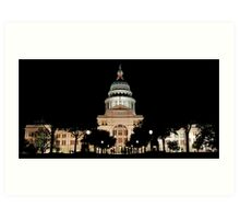 Texas State Capital building Art Print