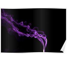 Coloured Smoke Purple Poster