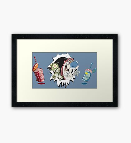 Ren & Stimpy - Oh Joy! Brains... Framed Print