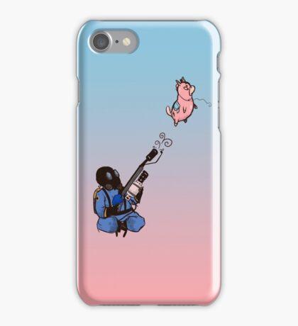 Blue Flamethrower iPhone Case/Skin