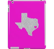 Houston, TX Glitter State iPad Case/Skin