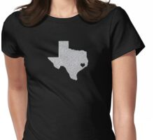 Houston, TX Glitter State Womens Fitted T-Shirt