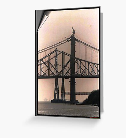 AL ZAMPA SUSPENSION SPAN Greeting Card