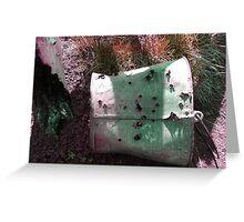 bullet hole bucket Greeting Card