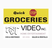 Quick Stop Groceries and RST Video Inc. Kids Tee