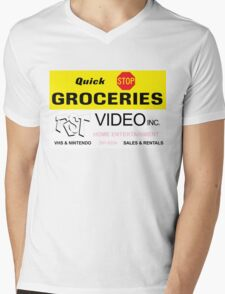 Quick Stop Groceries and RST Video Inc. Mens V-Neck T-Shirt